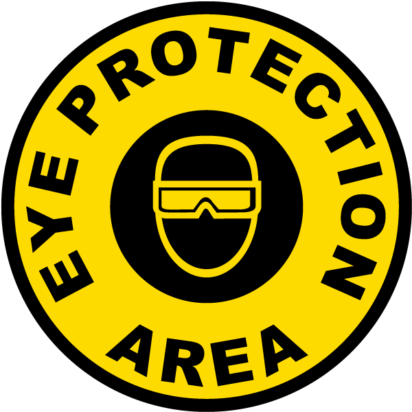 Eye Protection Area Floor Marker