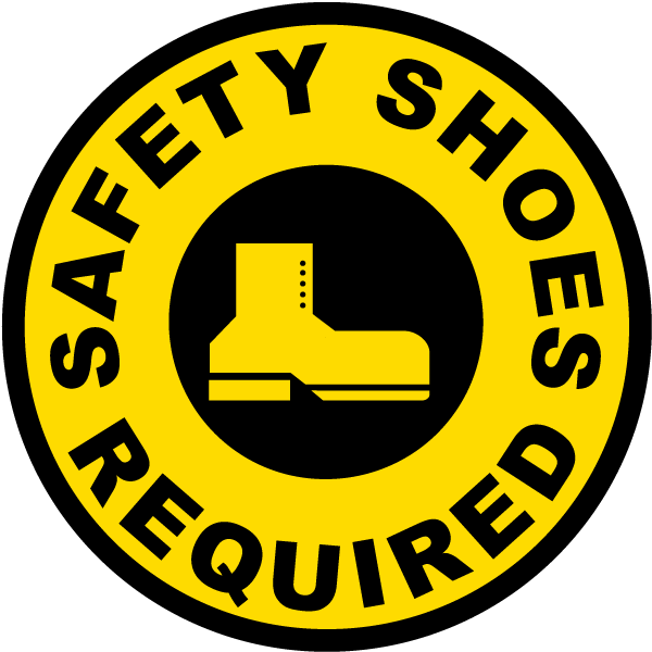 Safety Shoes Required Floor Sign