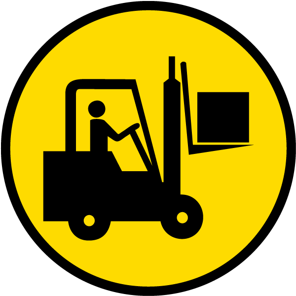 Forklift Area Floor Sign