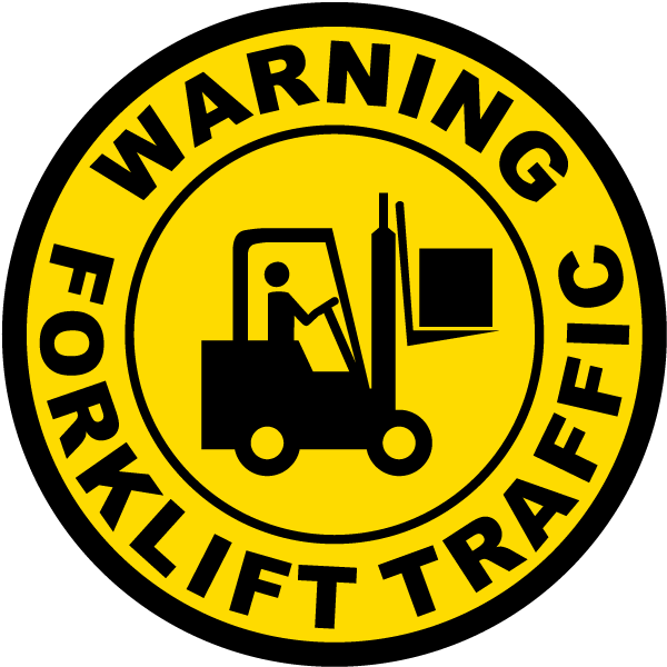 Warning Forklift Traffic Floor Sign