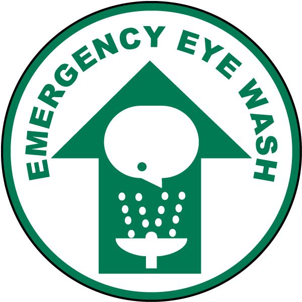 Emergency Eye Wash Floor Sign