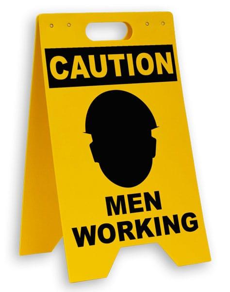 Caution Men Working Floor Sign