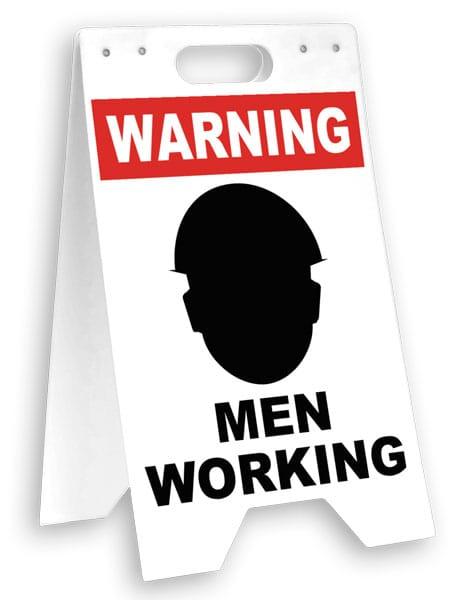 Warning Men Working Floor Sign