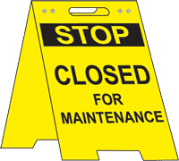 Stop Closed For Maintenance Floor Stand