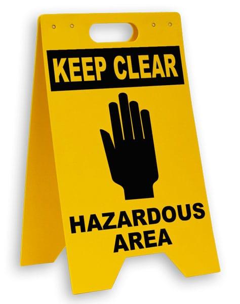 Hazardous Area Keep Clear Floor Sign