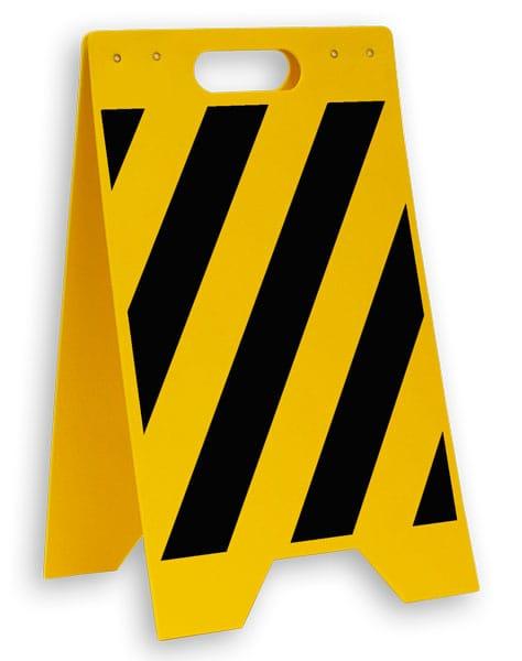 Yellow / Black Striped Floor Sign