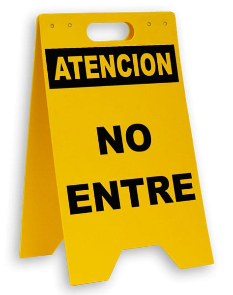 Spanish Do Not Enter Floor Sign
