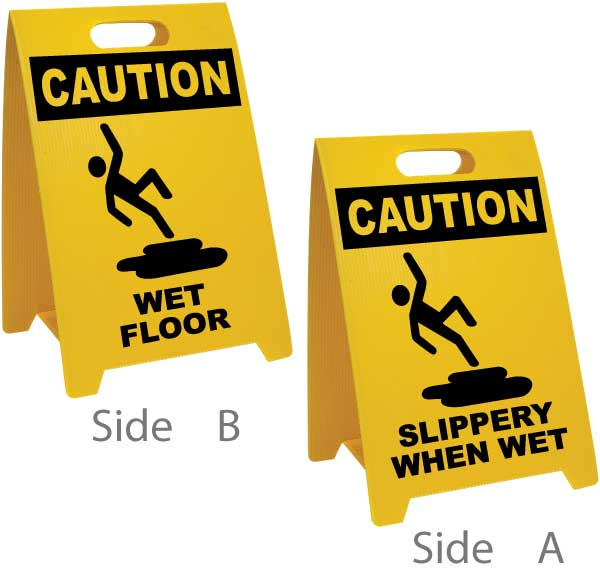 Wet Floor / Slippery When Wet Floor Sign
