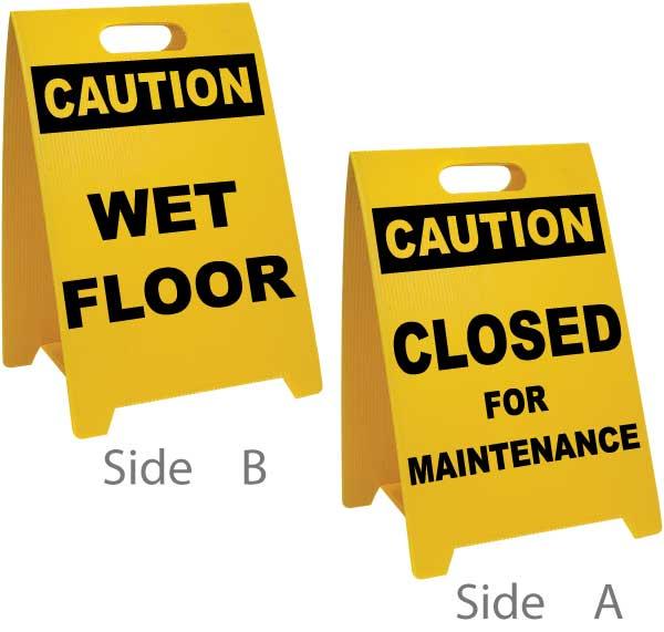 Wet Floor / Closed For Maintenance Floor Sign