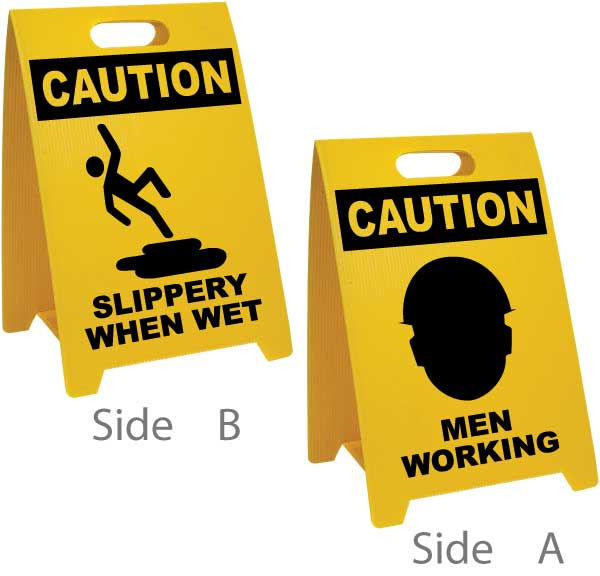 Slippery When Wet / Men Working Floor Sign