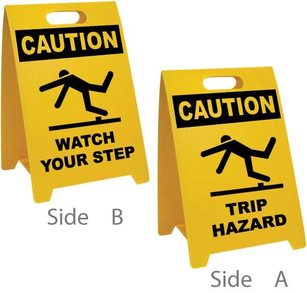 Watch Your Step / Trip Hazard Floor Sign