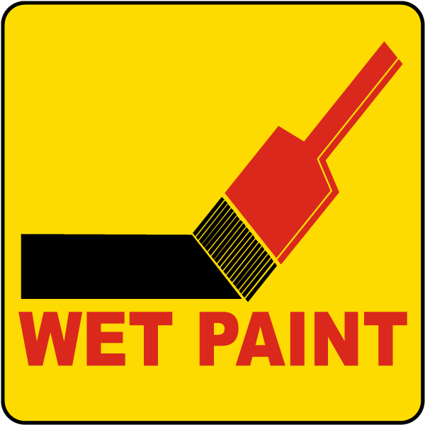 Wet Paint Label