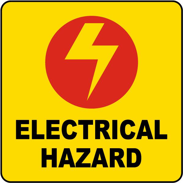 Electrical Hazard Label