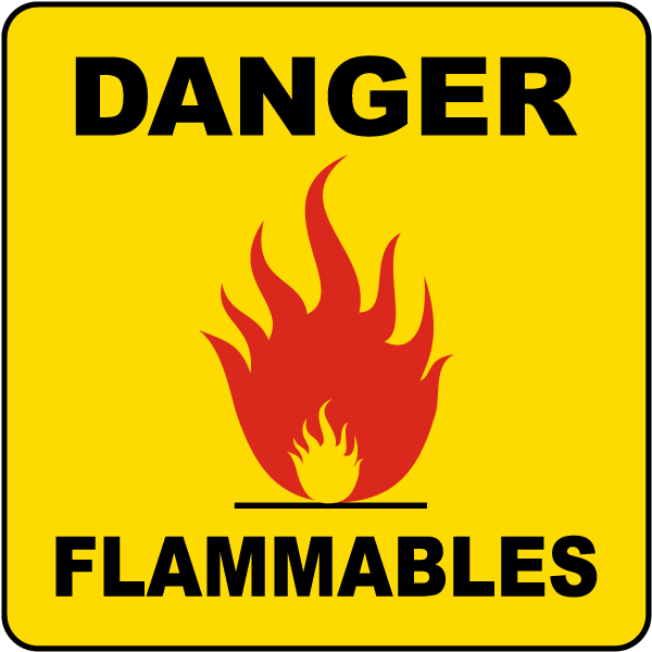 Danger Flammables Label