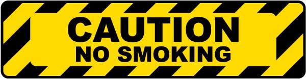 Caution No Smoking Floor Sign