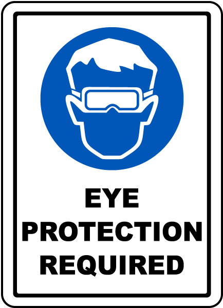 Eye Protection Required Floor Sign