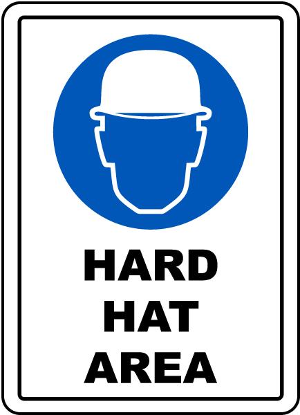 Hard Hat Area Floor Sign