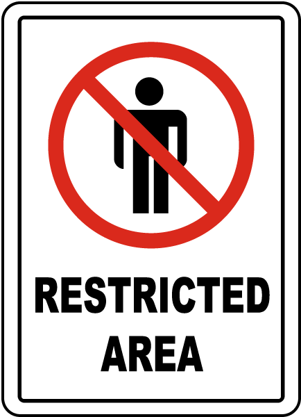 Restricted Area Floor Sign