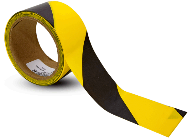 Yellow-Black Striped Tape