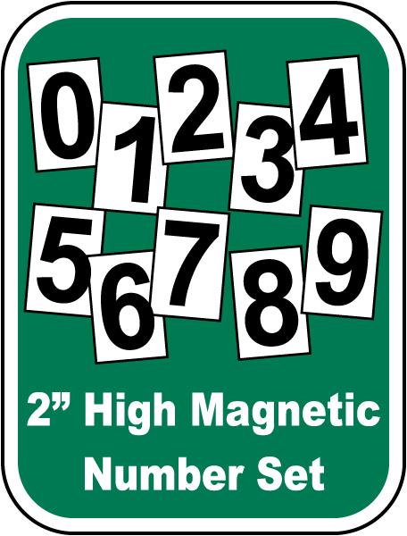 Magnetic Number Set For Steel Scoreboard
