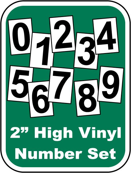 Stick-On Scoreboard Number Set
