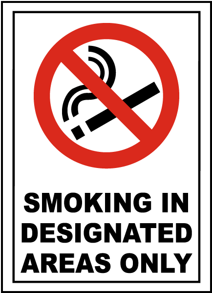Designated Areas Only Sign
