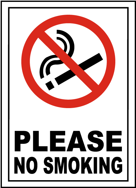 Please No Smoking Sign