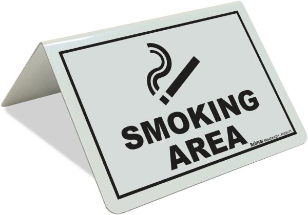 Smoking Area Tent Sign