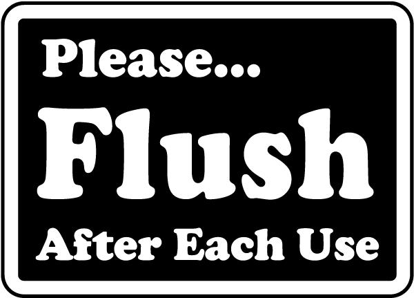Bathroom Etiquette Signs Restroom