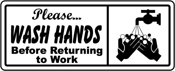 Please Wash Hands Label