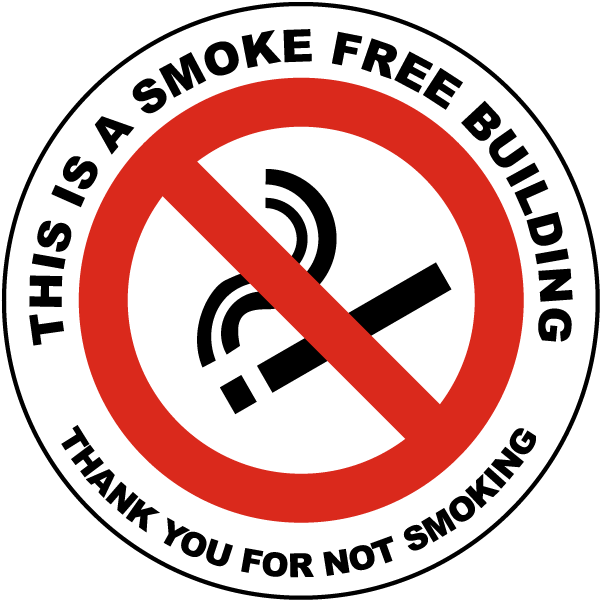 This Is A Smoke Free Building Label
