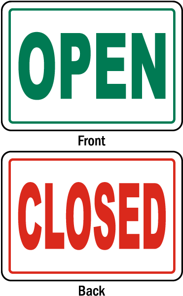 Business Open Closed Sign