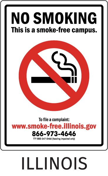 Illinois No Smoking Sign