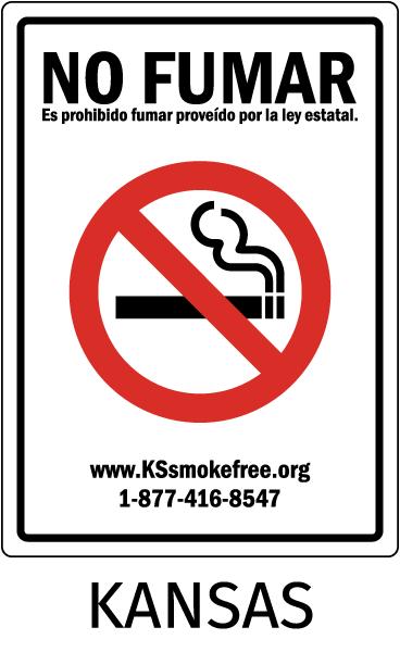 Kansas No Smoking Sign