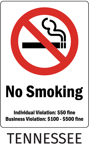 Tennessee No Smoking Sign