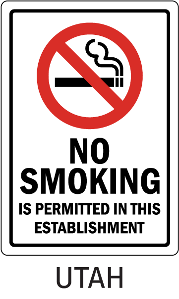 Utah No Smoking Is Permitted In This Establishment