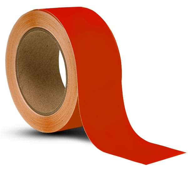 Red Vinyl Floor Marking Tape
