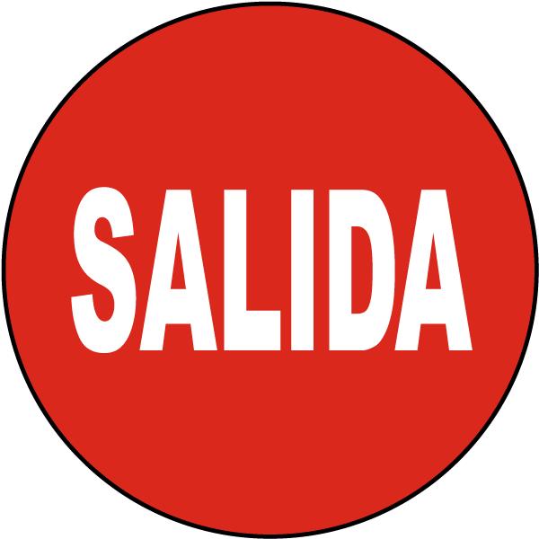 Spanish Exit Floor Sign