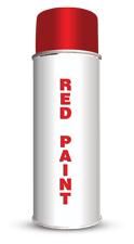 Permanent Water Based Red Stencil Paint