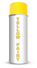 Permanent Water Based Yellow Stencil Paint
