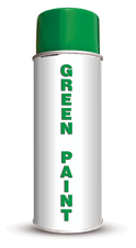 Permanent Water Based Green Stencil Paint