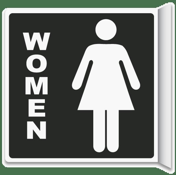 2 way women 39 s restroom sign t4335 by for Women s bathroom sign