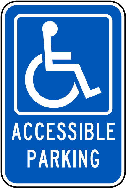 Handicapped Parking Sign-Accessible Parking