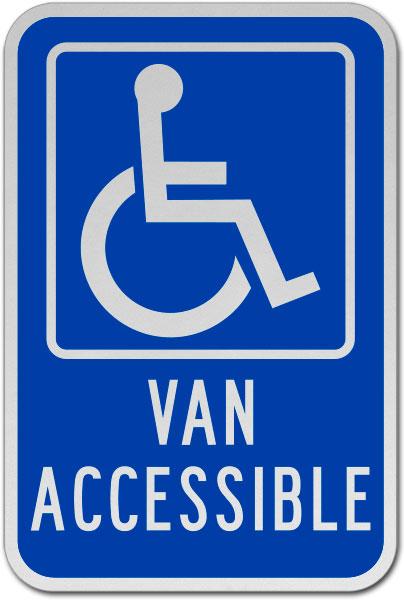 Van Accessible Parking Sign