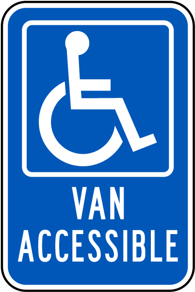 Handicapped Parking Sign-Van Accessible