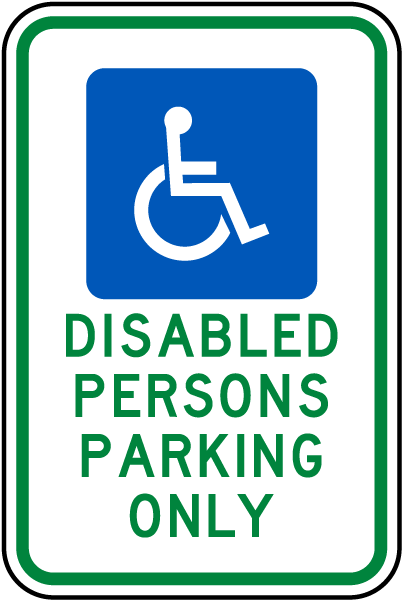 Handicapped Parking Sign-Disabled Persons Parking Only