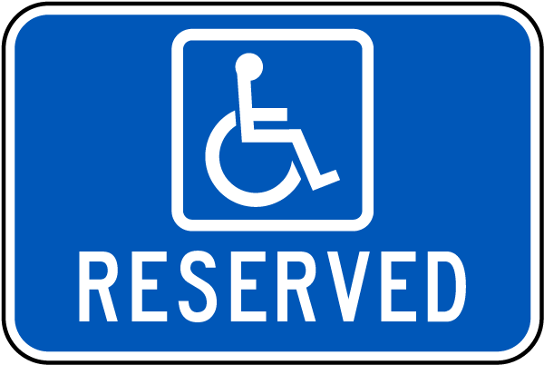 Accessible Reserved Sign