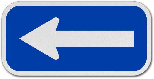 Blue / White Arrow Sign