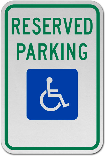 MUTCD Accessible Reserved Parking Sign