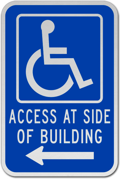 Access At Side of Building (Left Arrow)